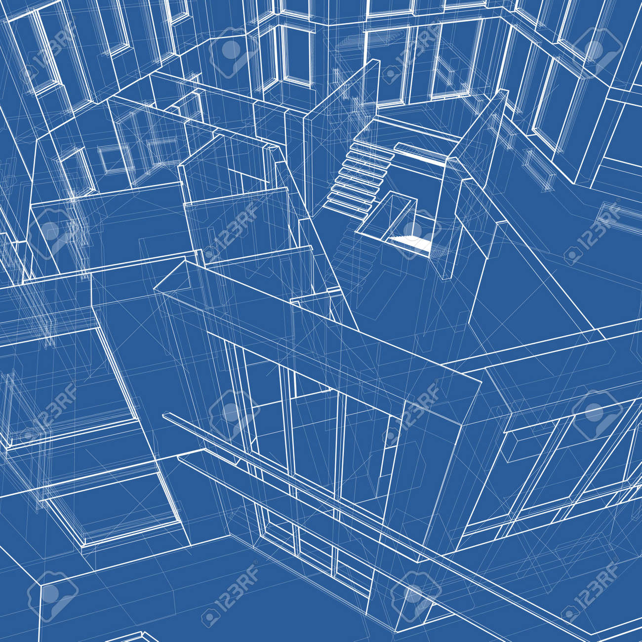 House blueprint 3d technical draw stock photo picture and royalty house blueprint 3d technical draw stock photo 2886141 malvernweather Gallery