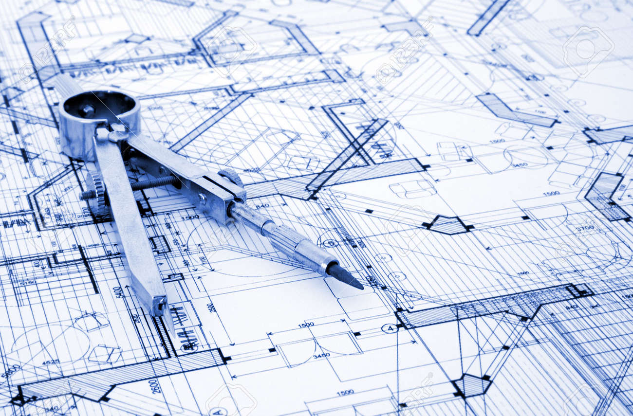 Architecture blueprint tools stock photo picture and royalty free architecture blueprint tools stock photo 3750074 malvernweather Images