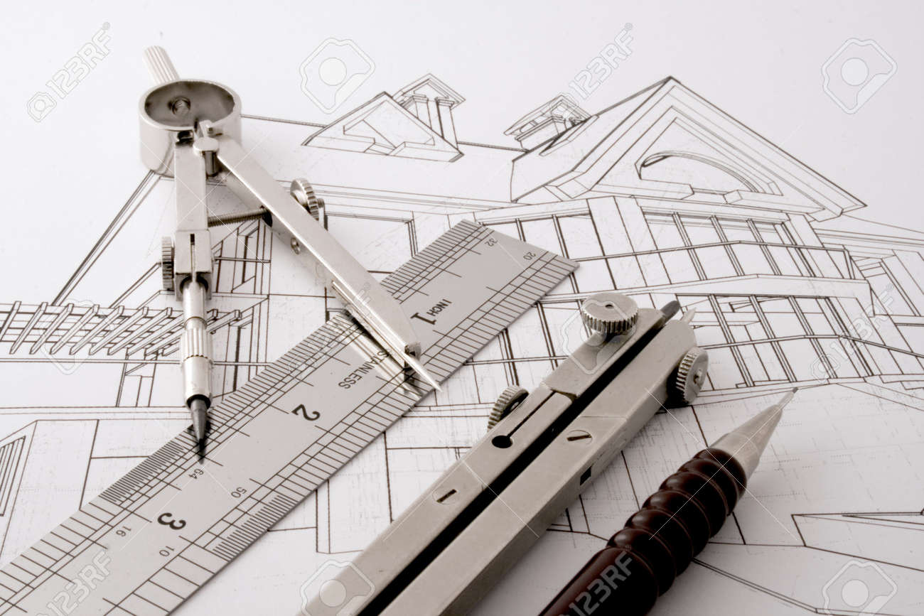 Architecture Draw Instruments Stock Photo Picture And Royalty
