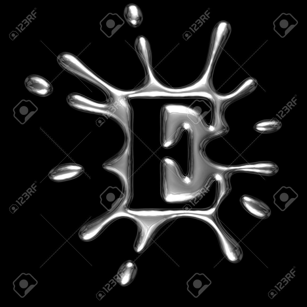 Background image e - Liquid Metal Letter E Alphabet Symbol Isolated On A Black Background With Path
