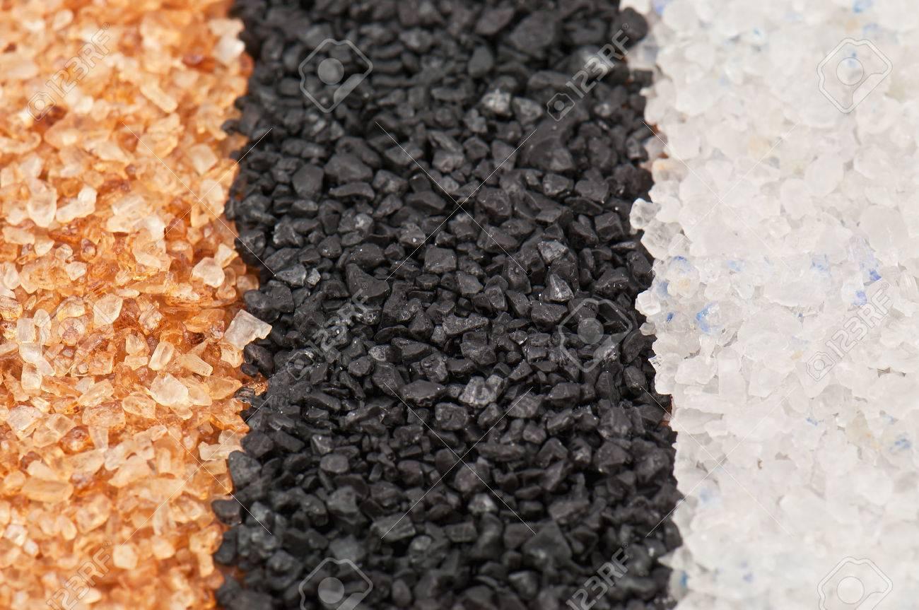 three types of salt texture - 26921667