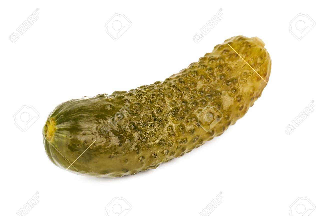 delicious pickle cucumber on white background - 70035149