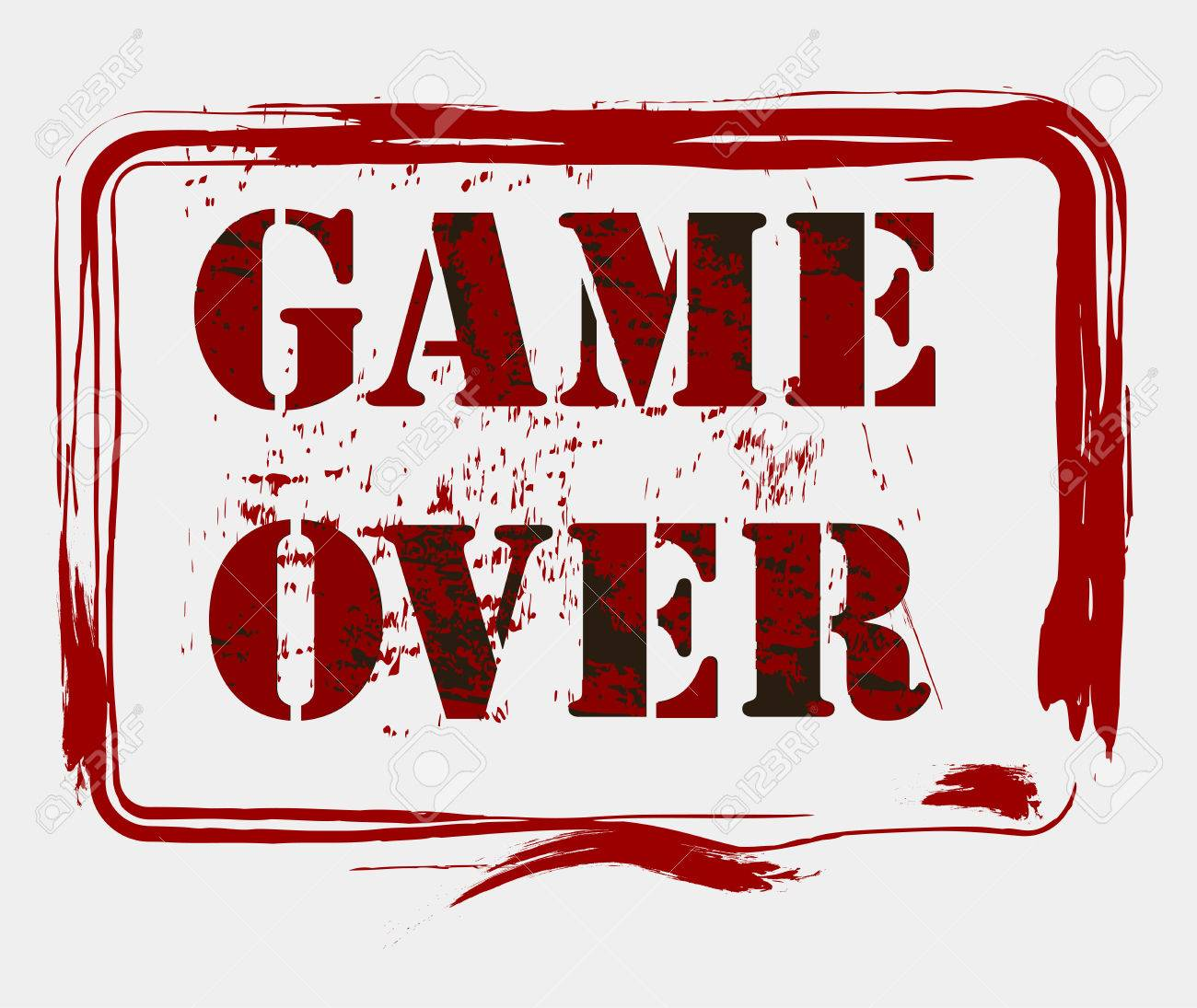 game over concept illustration royalty free cliparts vectors and