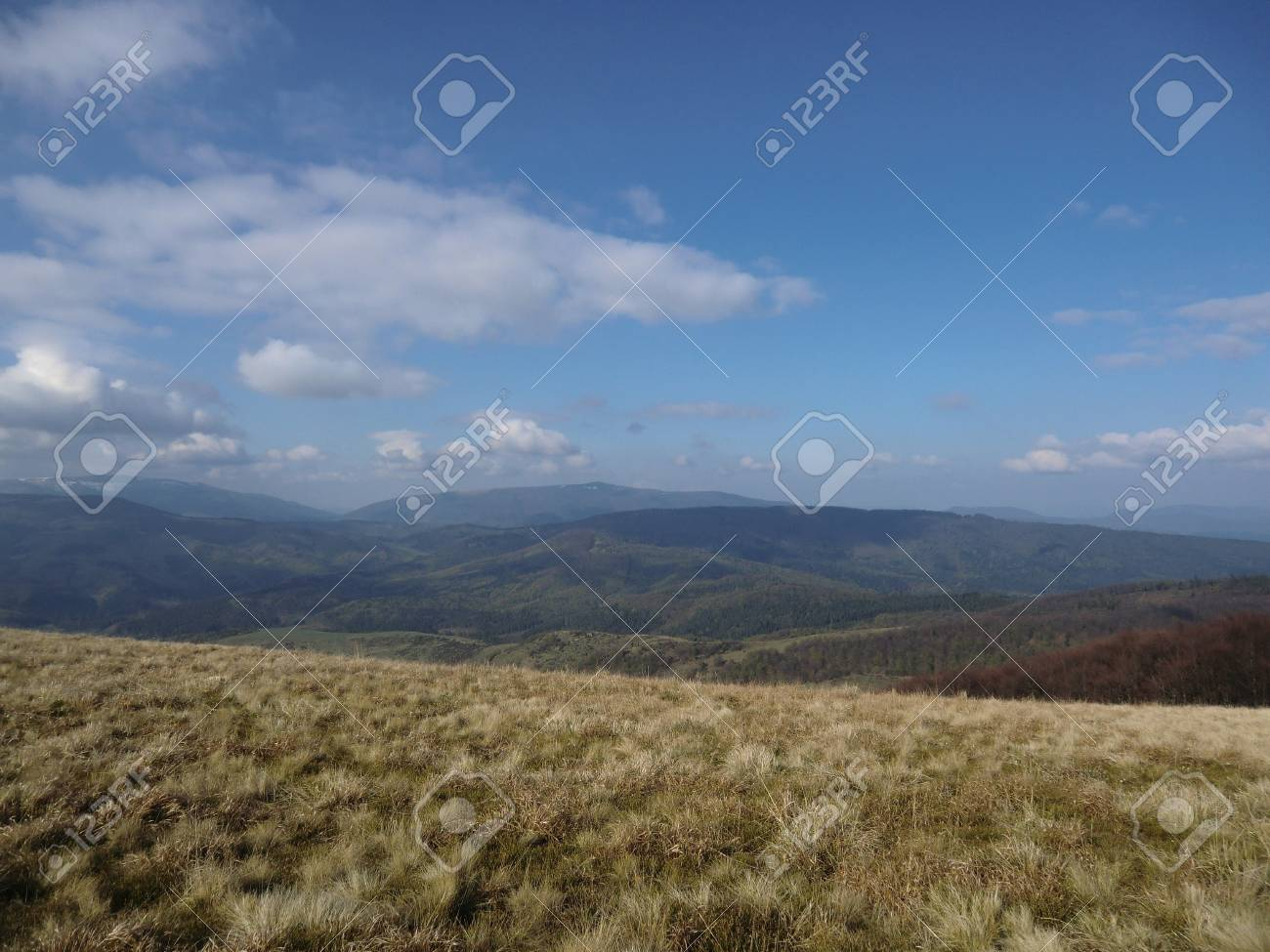 Valley behind a mountain slope in Carpathians Stock Photo - 10635026