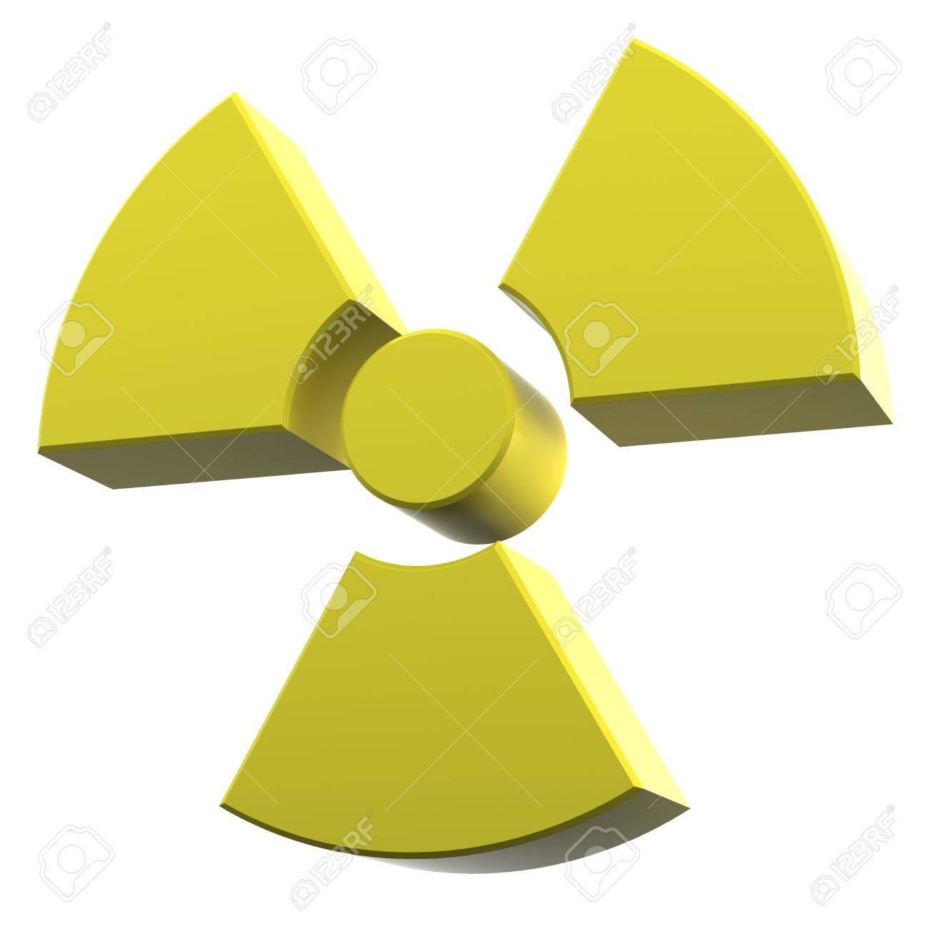 radioactivity logo made of yellow coated material Stock Photo - 11264718