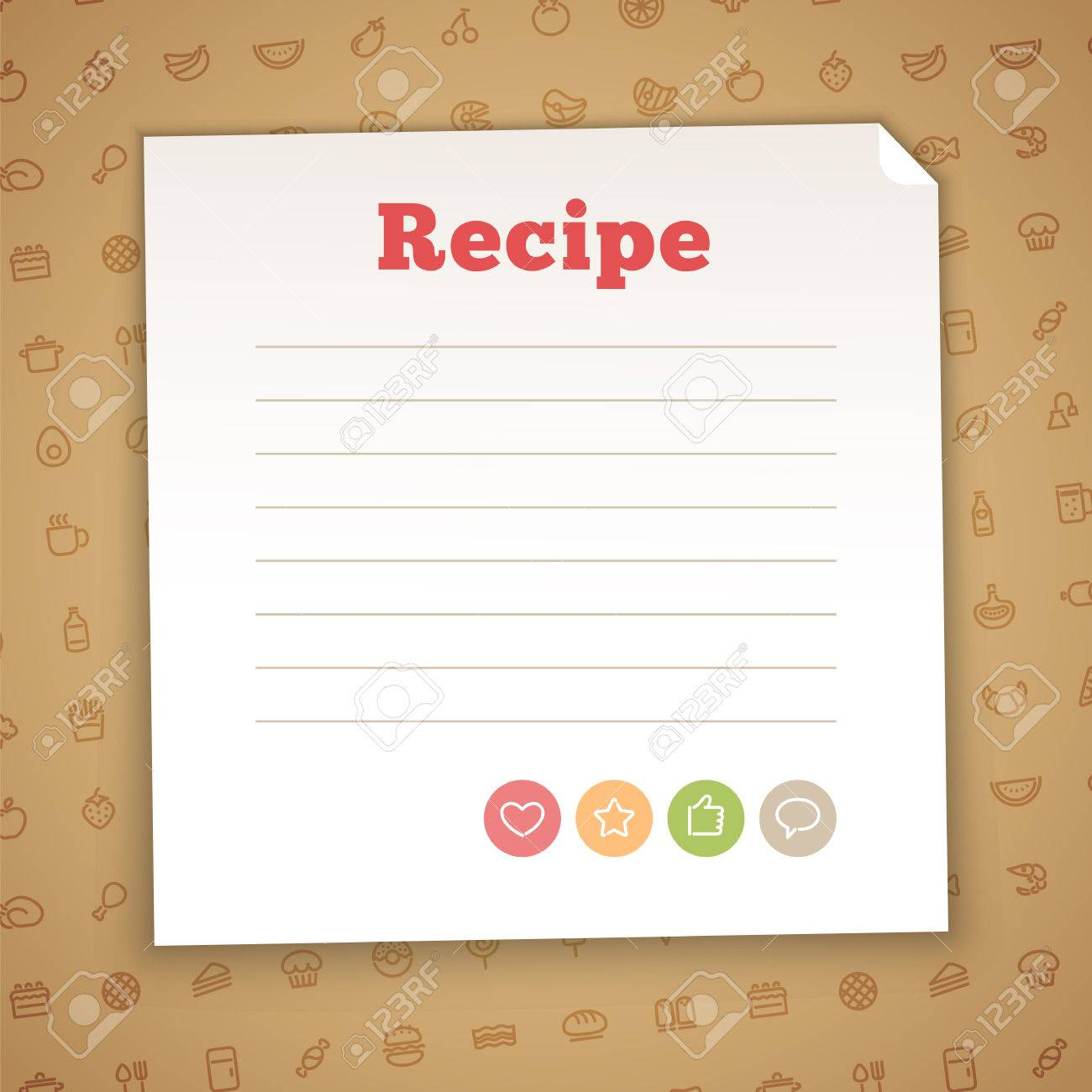 Blank Recipe Card Template Royalty Free Cliparts, Vectors, And ...