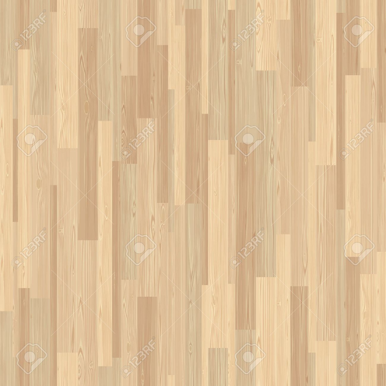 Light parquet seamless wooden floor stripe mosaic tile. Editable pattern in swatches. - 53965037