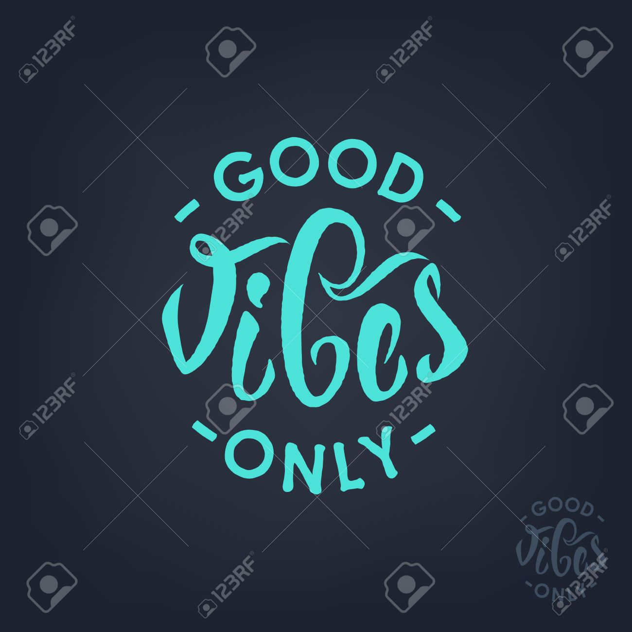 Short Positive Quotes Good Vibes Only Hand Letteringvector Short Quotes Calligraphy