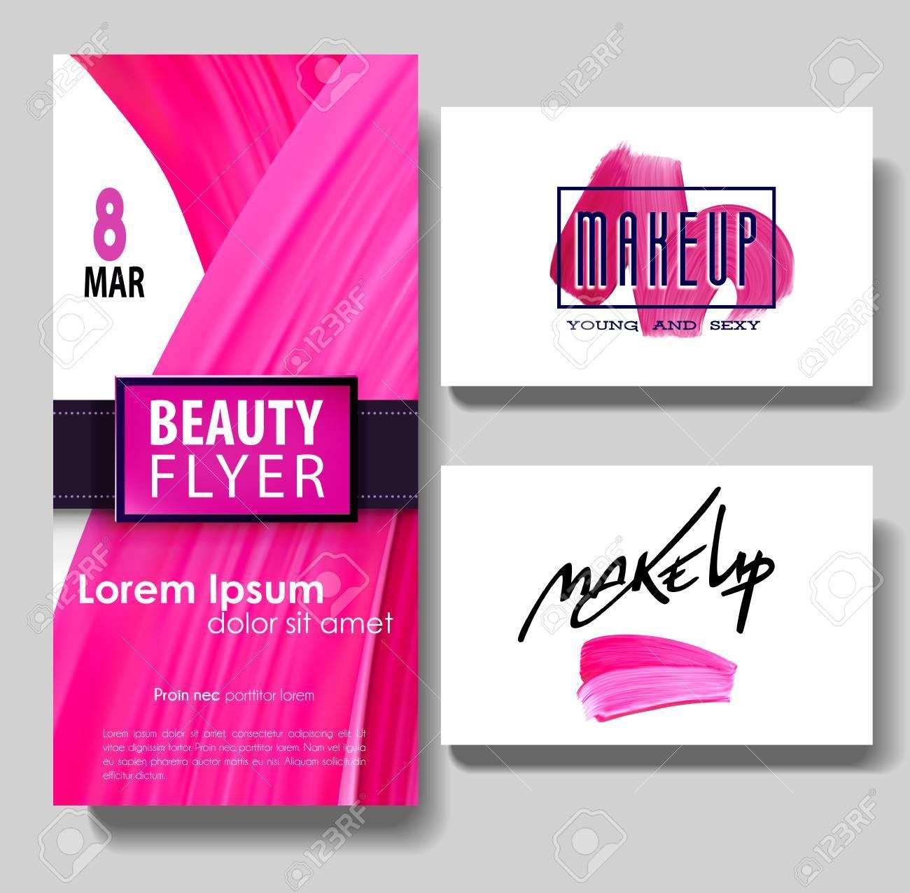 Carte De Visite Maquillage Des Lettres Et La