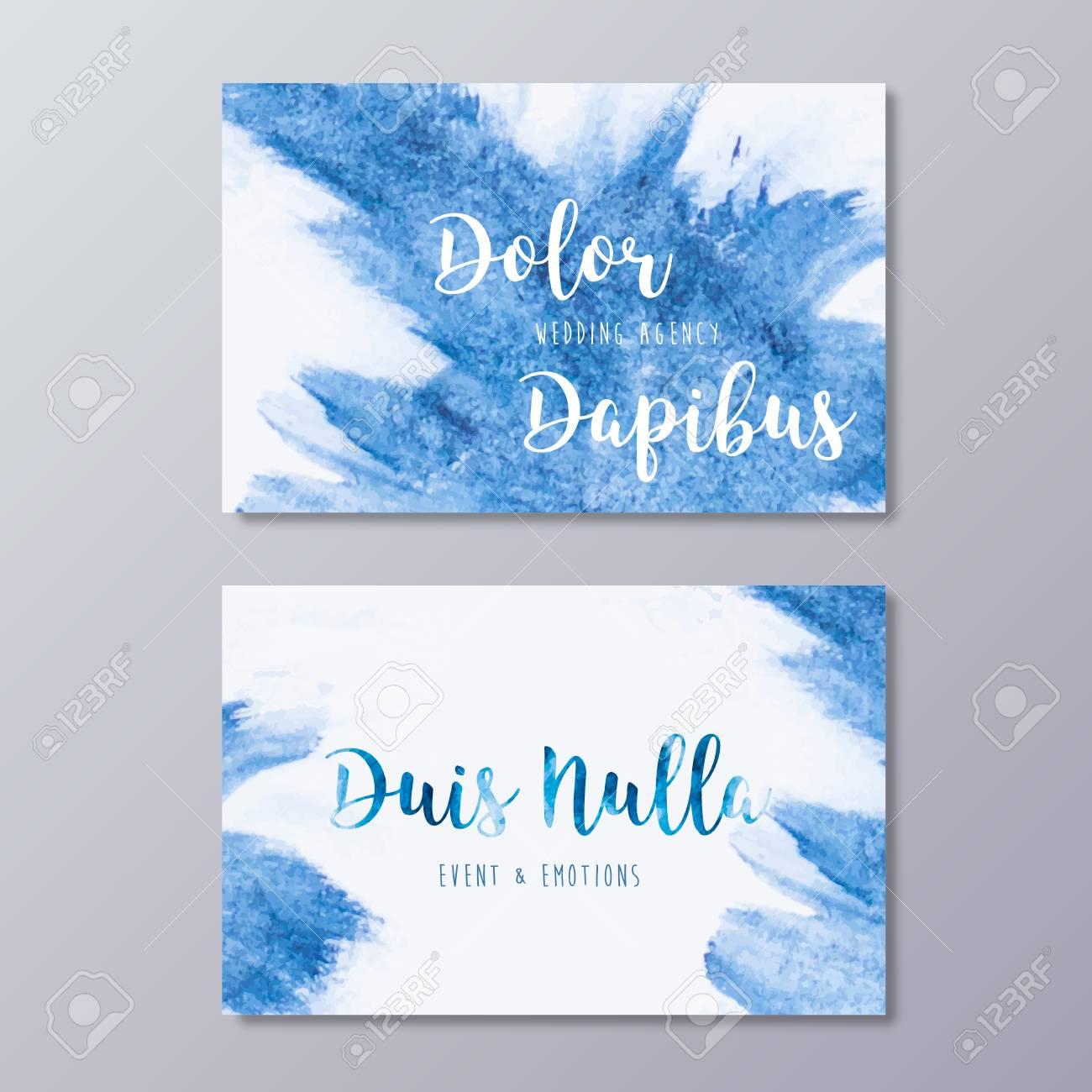 Premade Wedding Agency Business Card Design Templates. Hand Drawn ...