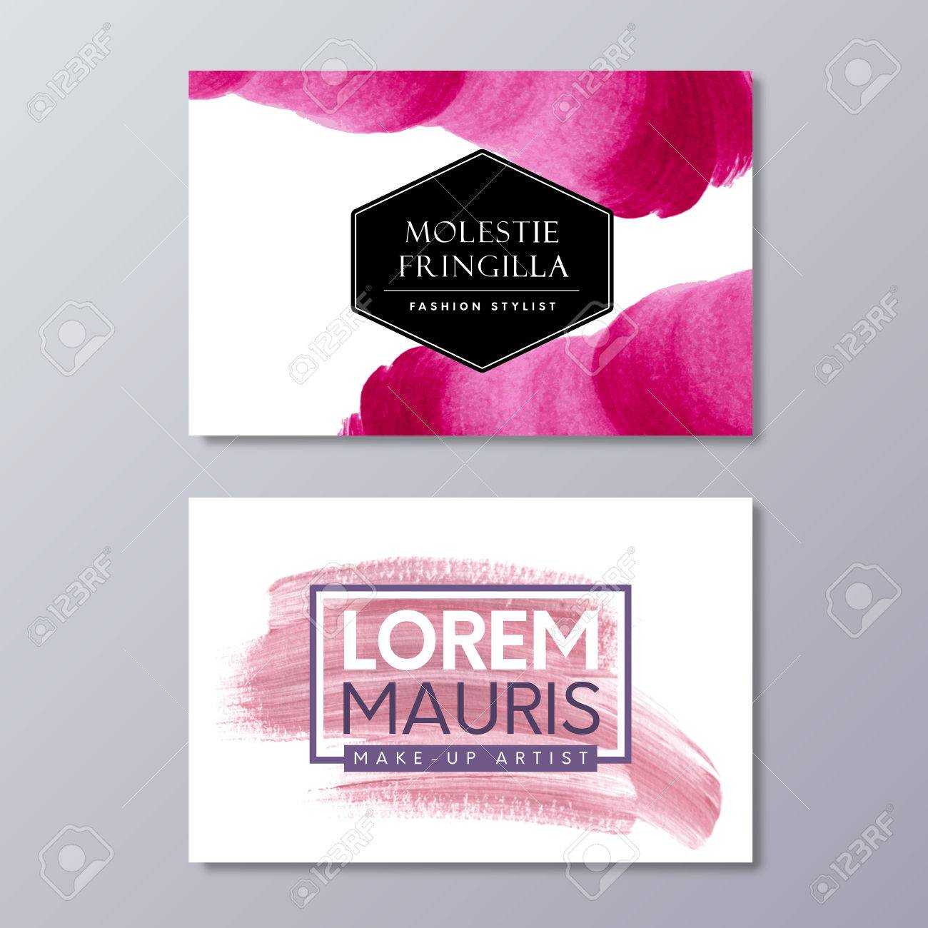 Abstract business card templates for fashion stylist make up abstract business card templates for fashion stylist make up artist or wedding logo cheaphphosting Choice Image