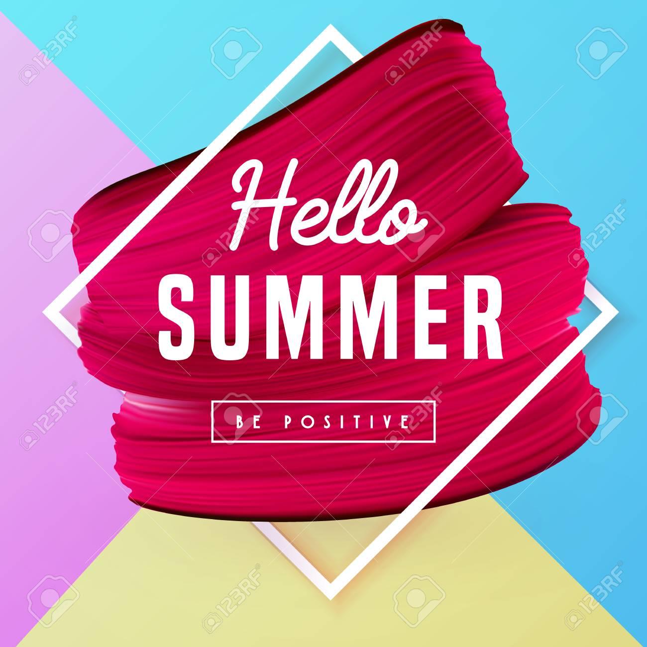Hola Patrón De Vectores De Vacaciones De Verano Con El Marco ...