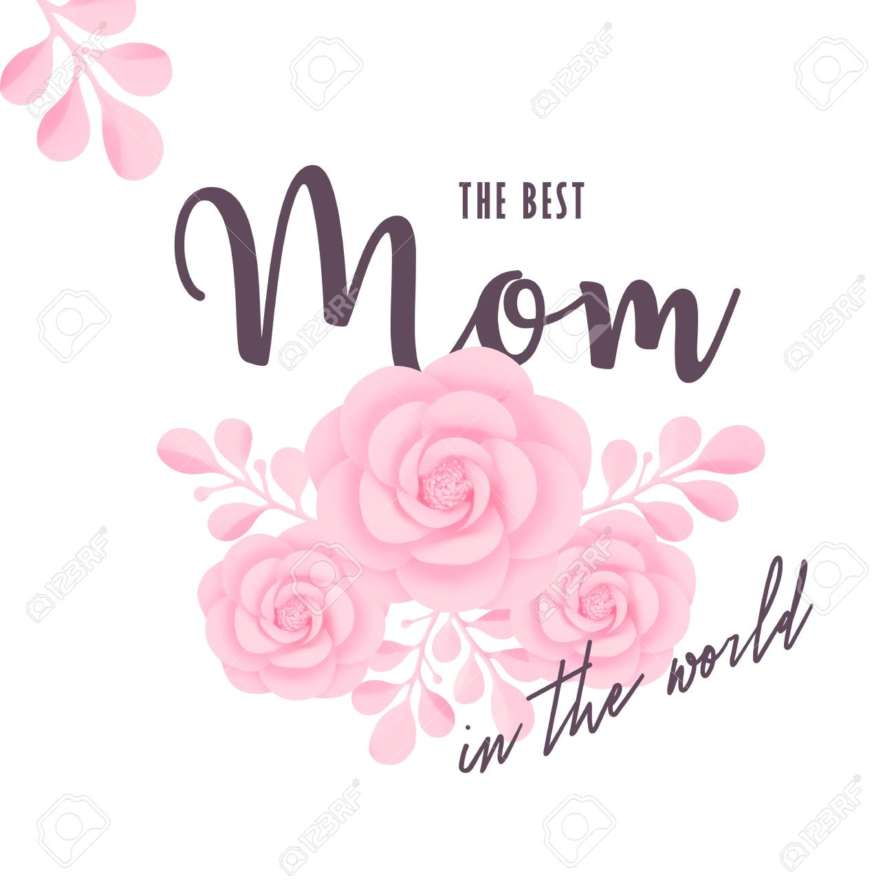 The Best Mom In World Vector Illustration MotheraEURTMs Day