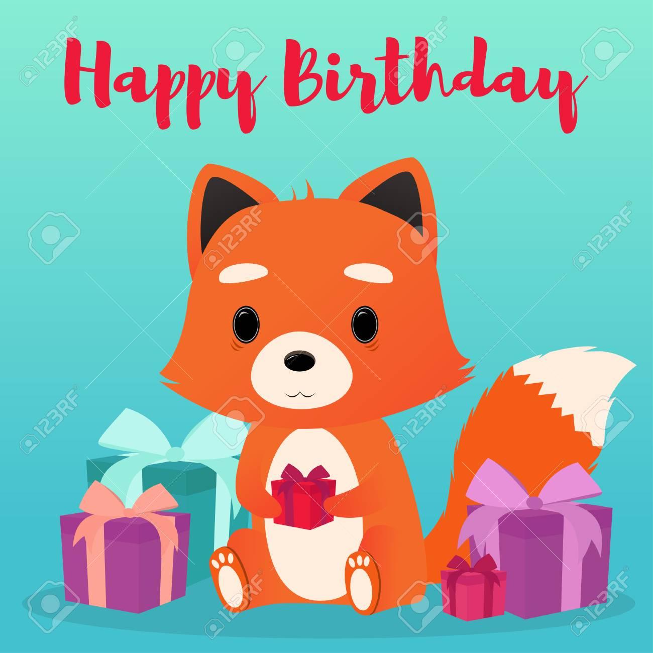 Joyeux anniversaire Ys 77859489-renard-mignon-avec-une-bo%C3%AEte-cadeau-dans-les-mains-bon-anniversaire-illustration-vectorielle