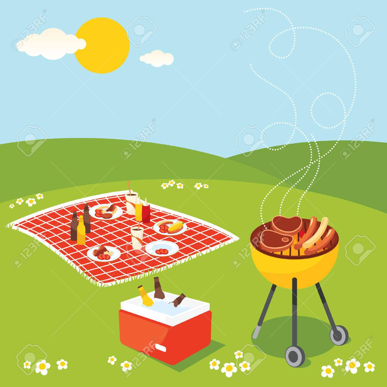 BBQ Party Stock Vector - 6720952