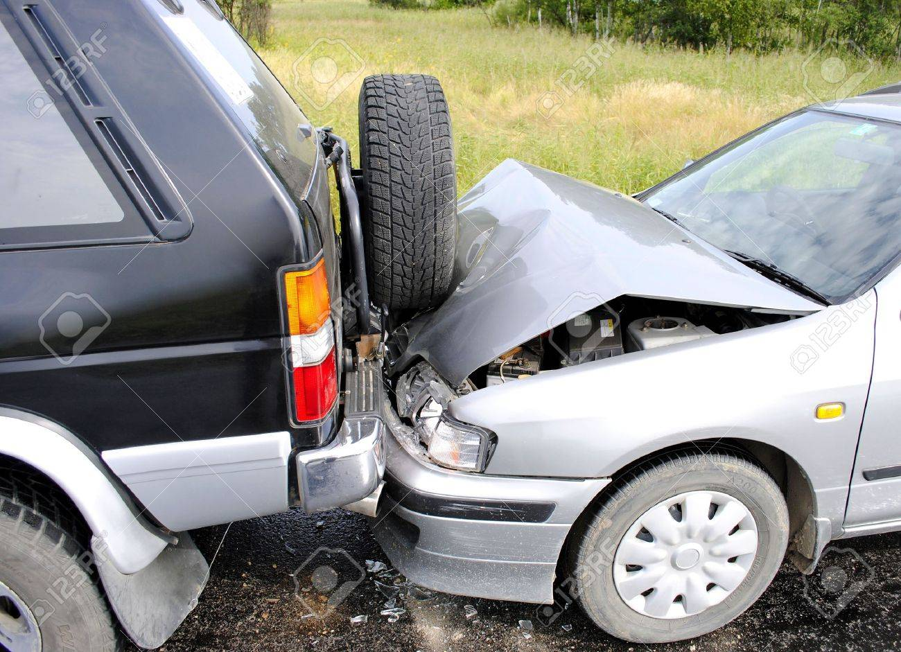Car accident on the highway Stock Photo - 8249948
