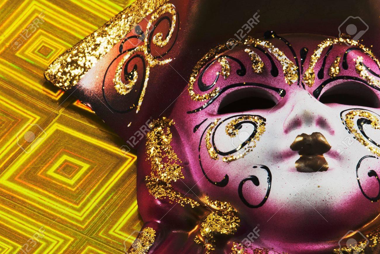 Close up of masquerade carnival mask - 11931540