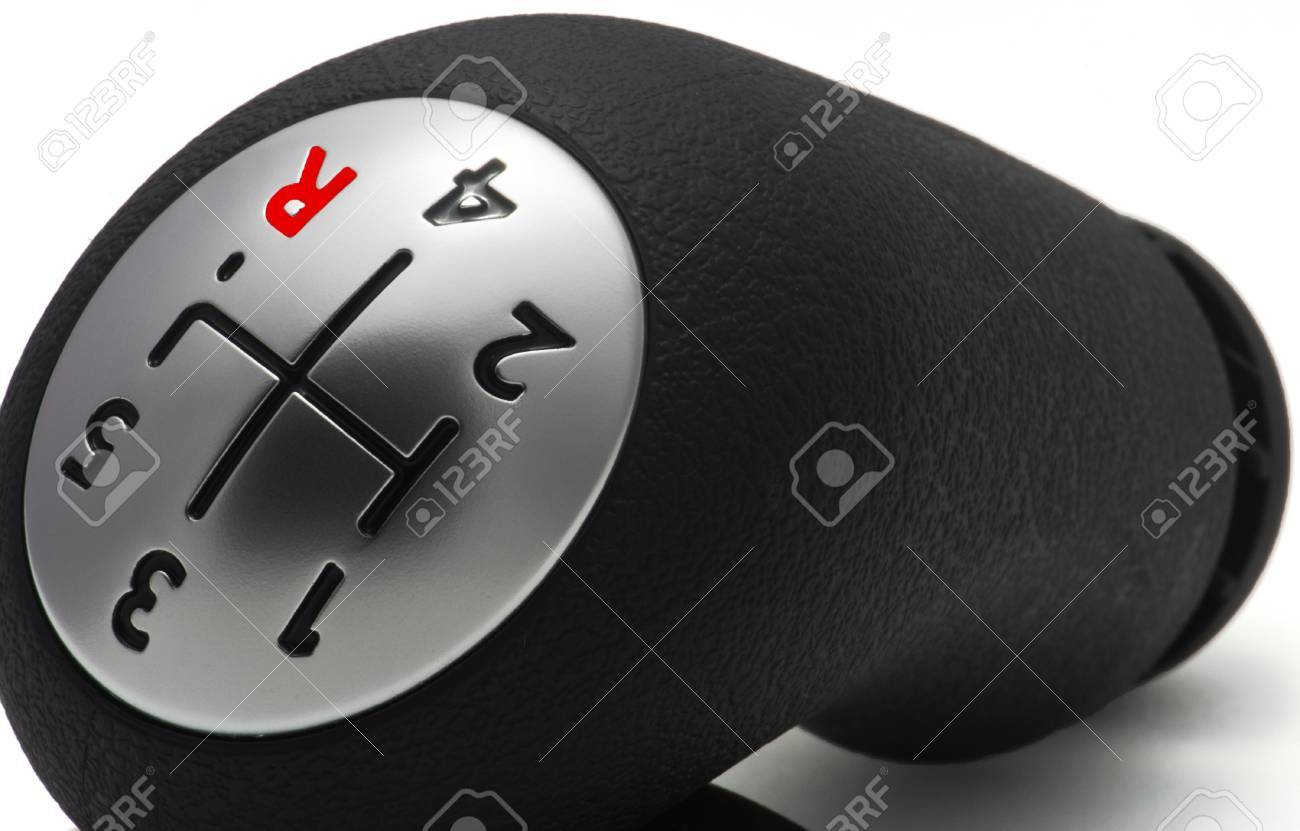 Schalthebel Auto. Detail-Diagramm Der Verschiebung Fünfgang-Getriebe ...