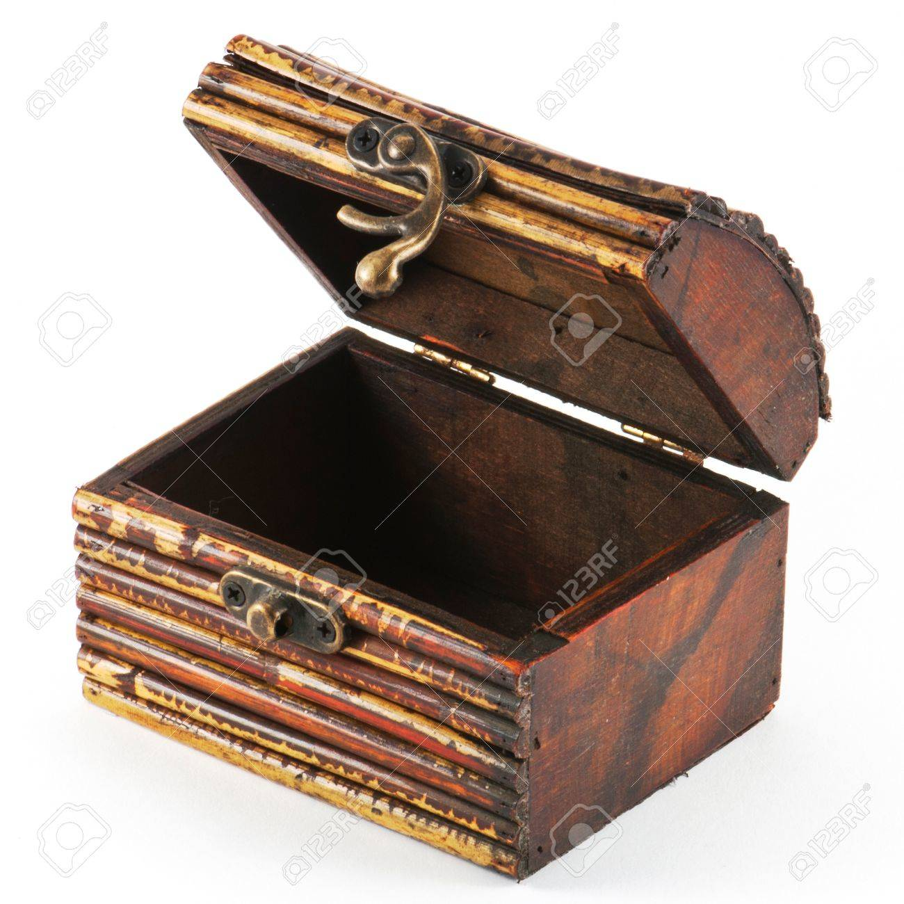 Wooden casket isolated on white background Stock Photo - 12324653