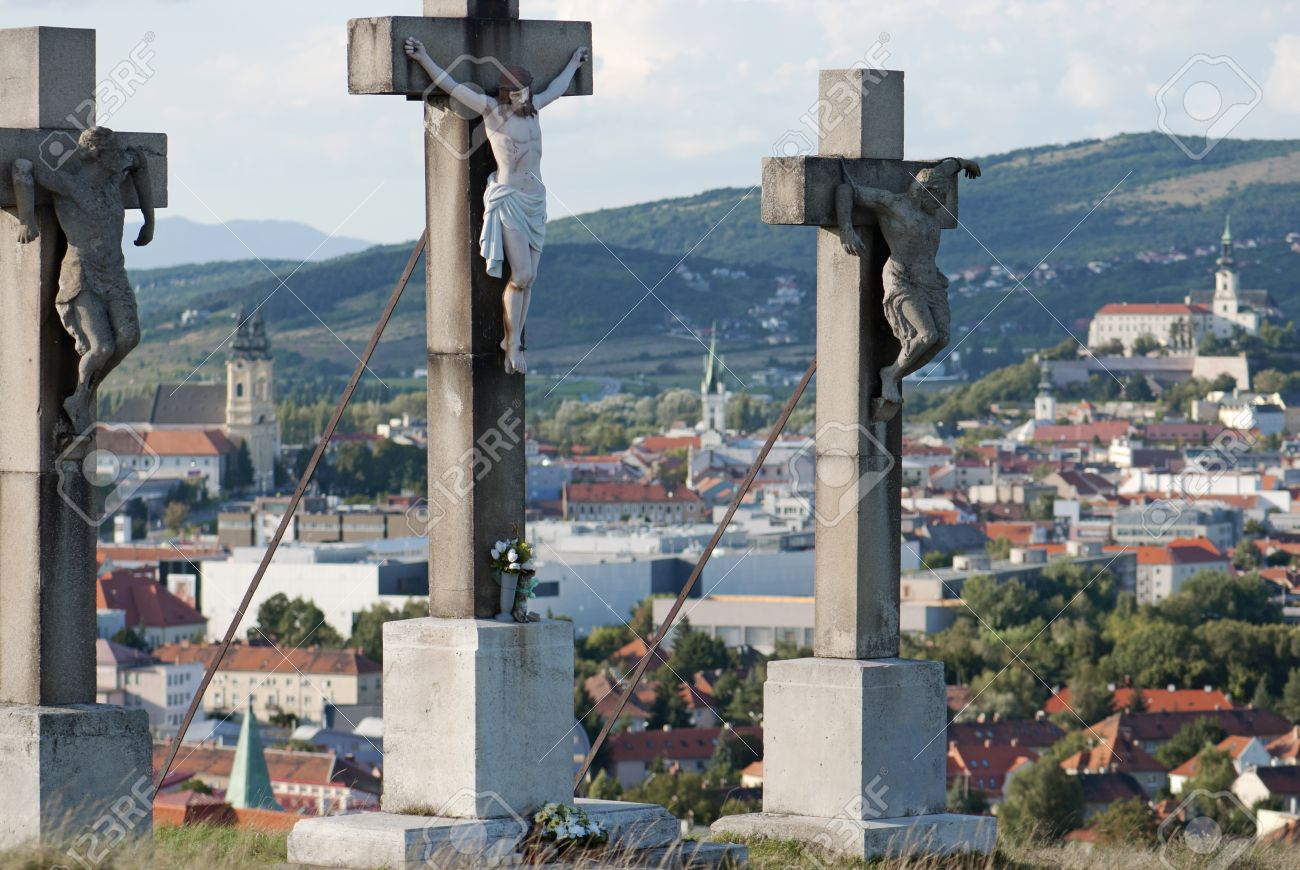 Jesus on the cross  Calvary, Nitra, Slovakia Stock Photo - 19146649