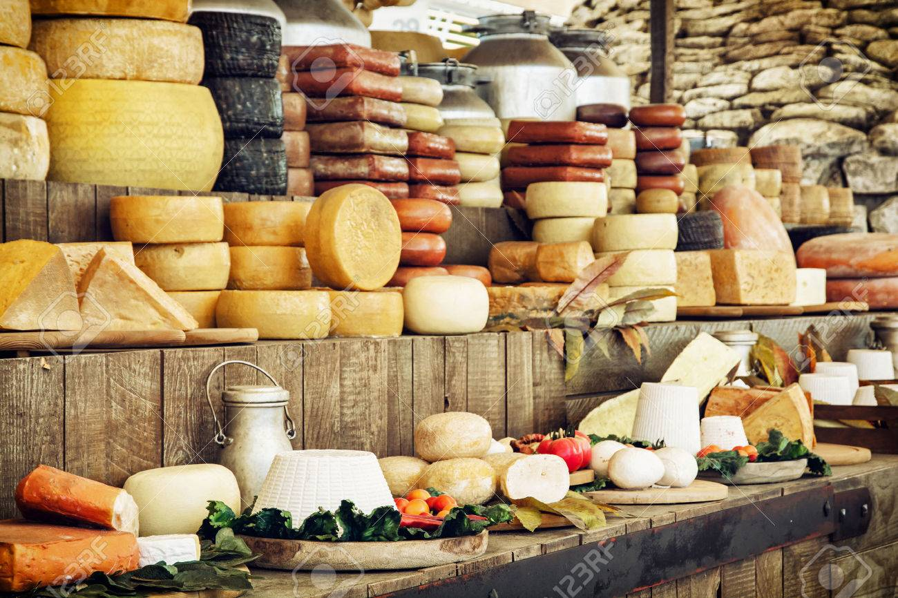 Dairy products and vegetables. Grocery shop. Food theme. - 50114272