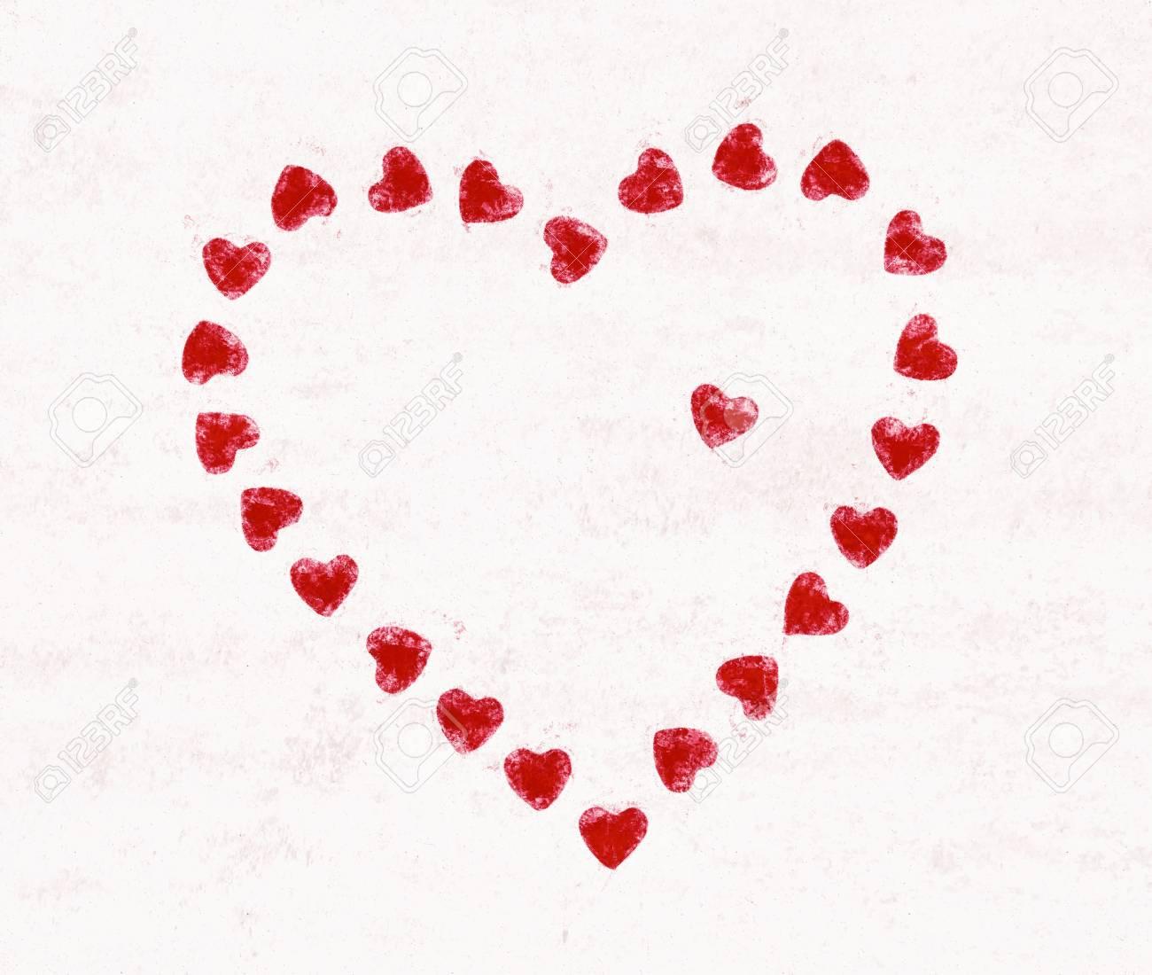 Valentinstag Herz Aus Kleinen Roten Herzen Valentinstag Symbol Der