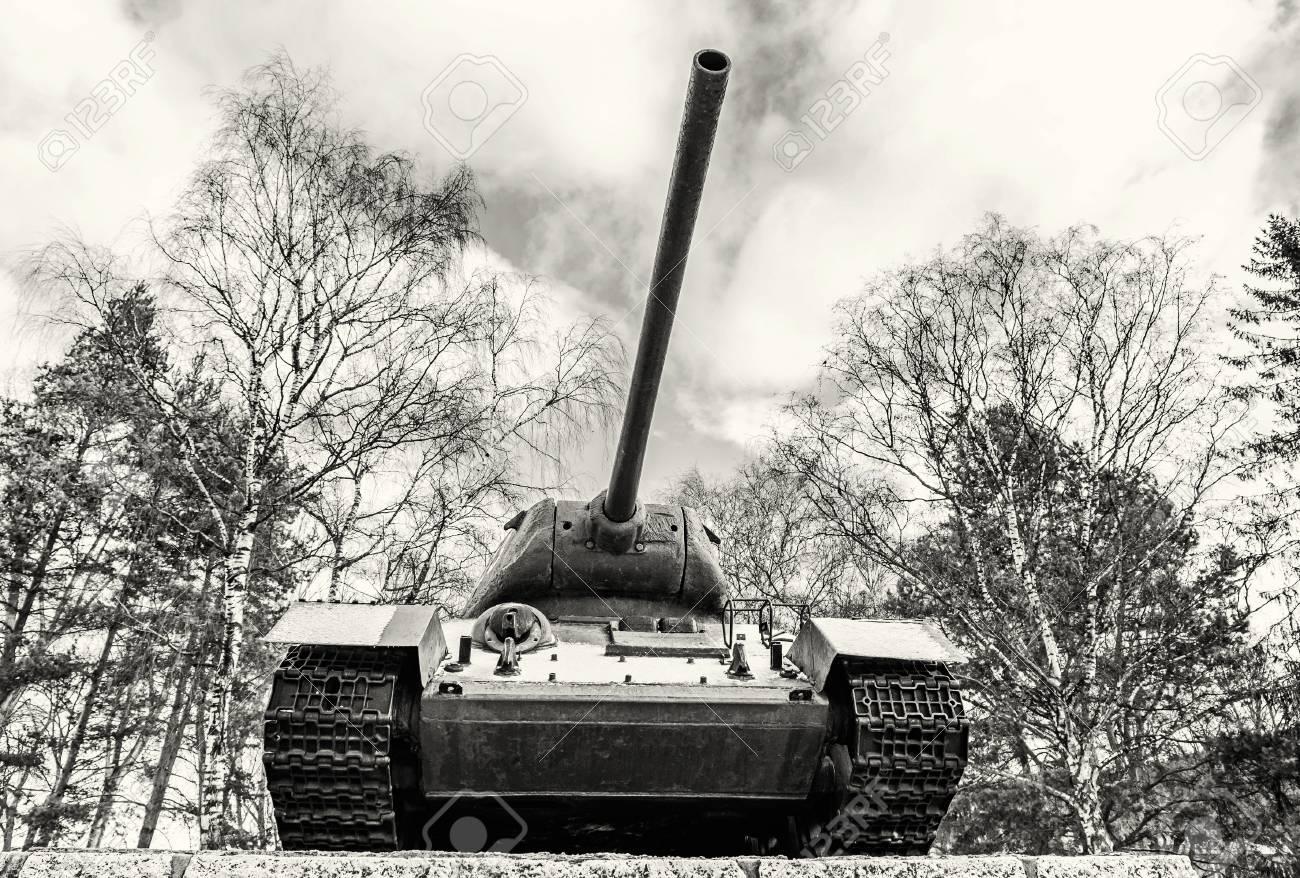Soviet medium tank t 34 of the world war ii kezmarok slovak