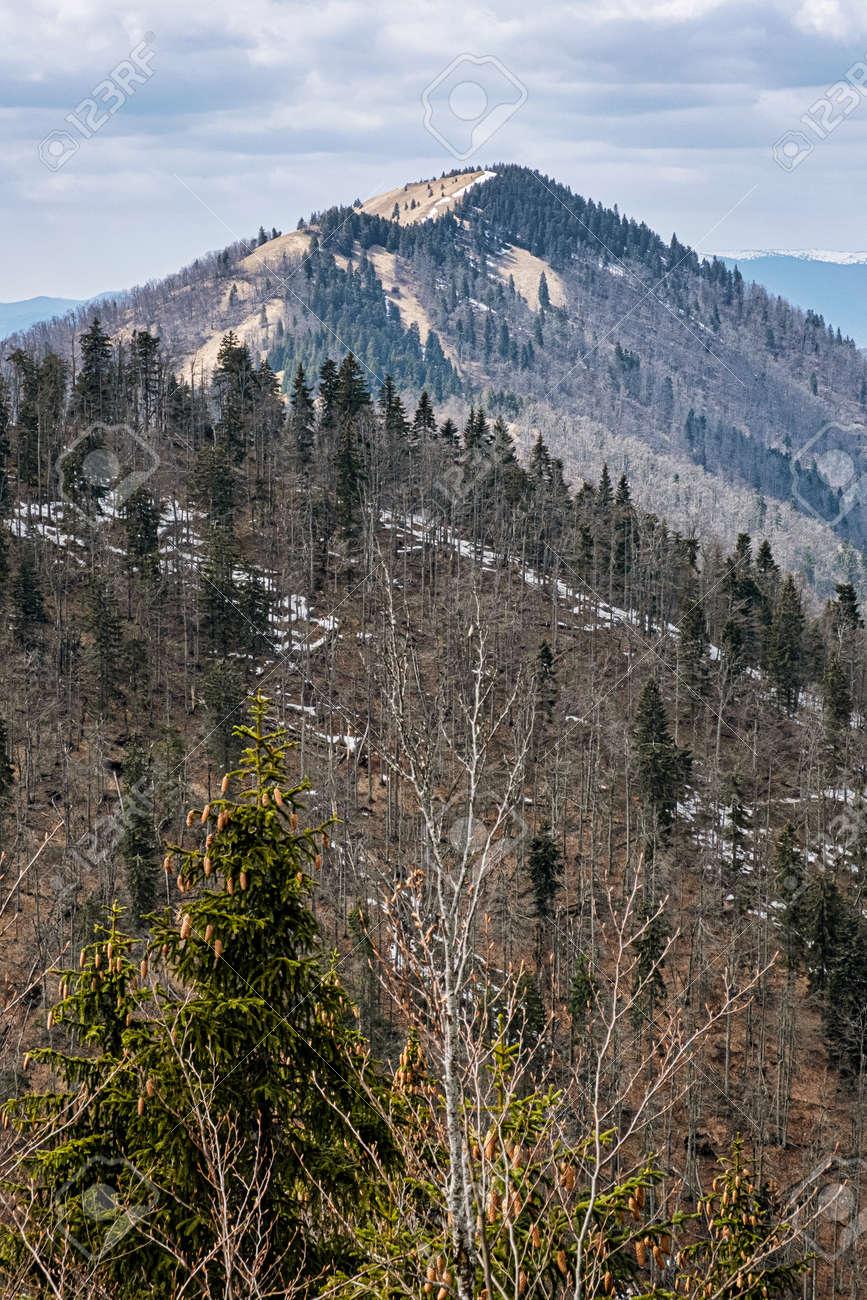 Lysec hill, Big Fatra mountains, Slovak republic. Seasonal natural scene. Hiking theme. - 169797892