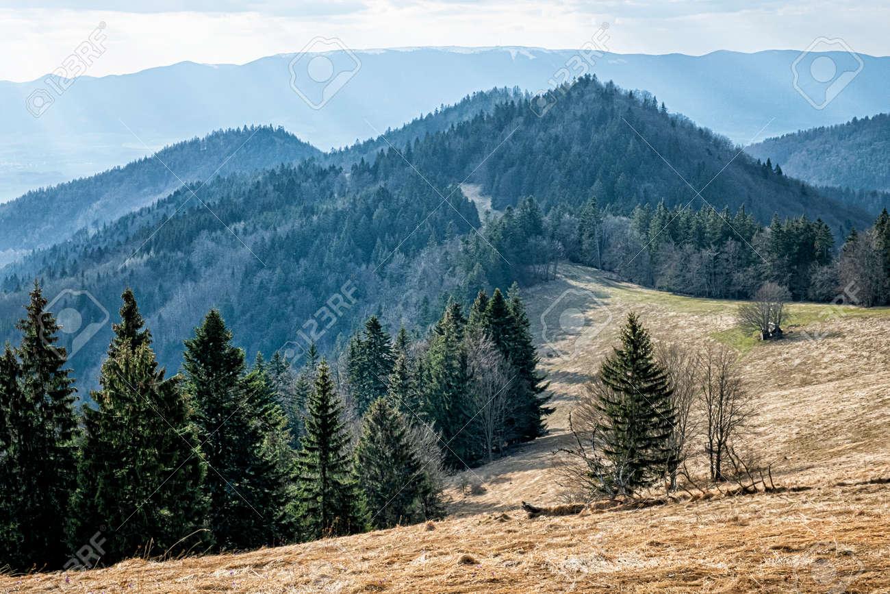 Big Fatra mountains scenery, Slovak republic. Seasonal natural scene. Travel destination. Hiking theme. - 169797901