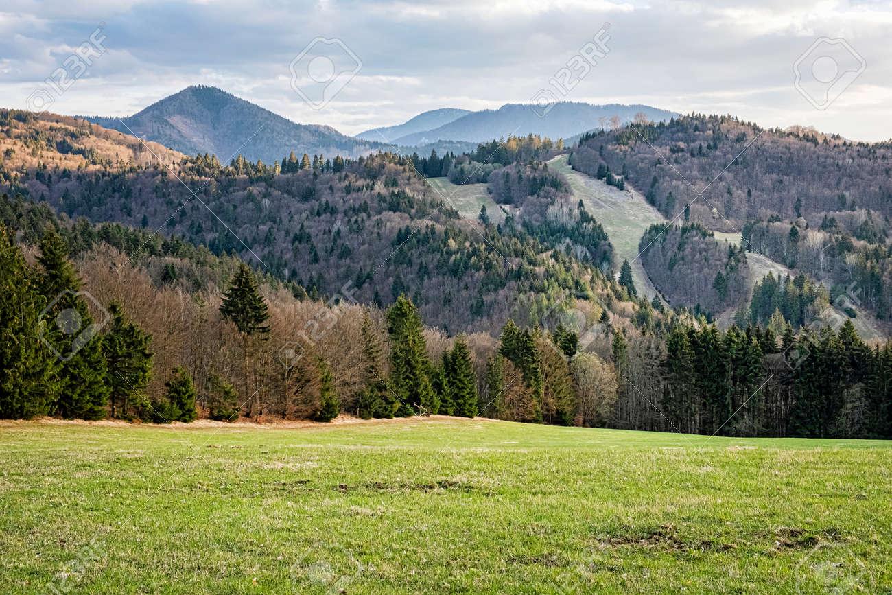 Big Fatra mountains scenery, Slovak republic. Seasonal natural scene. Travel destination. Hiking theme. - 169797904