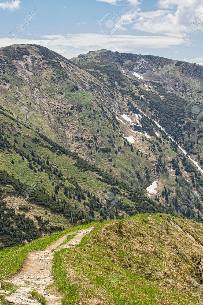 Little Fatra scenery, Slovak republic. Hiking theme. Seasonal natural scene. - 169797912