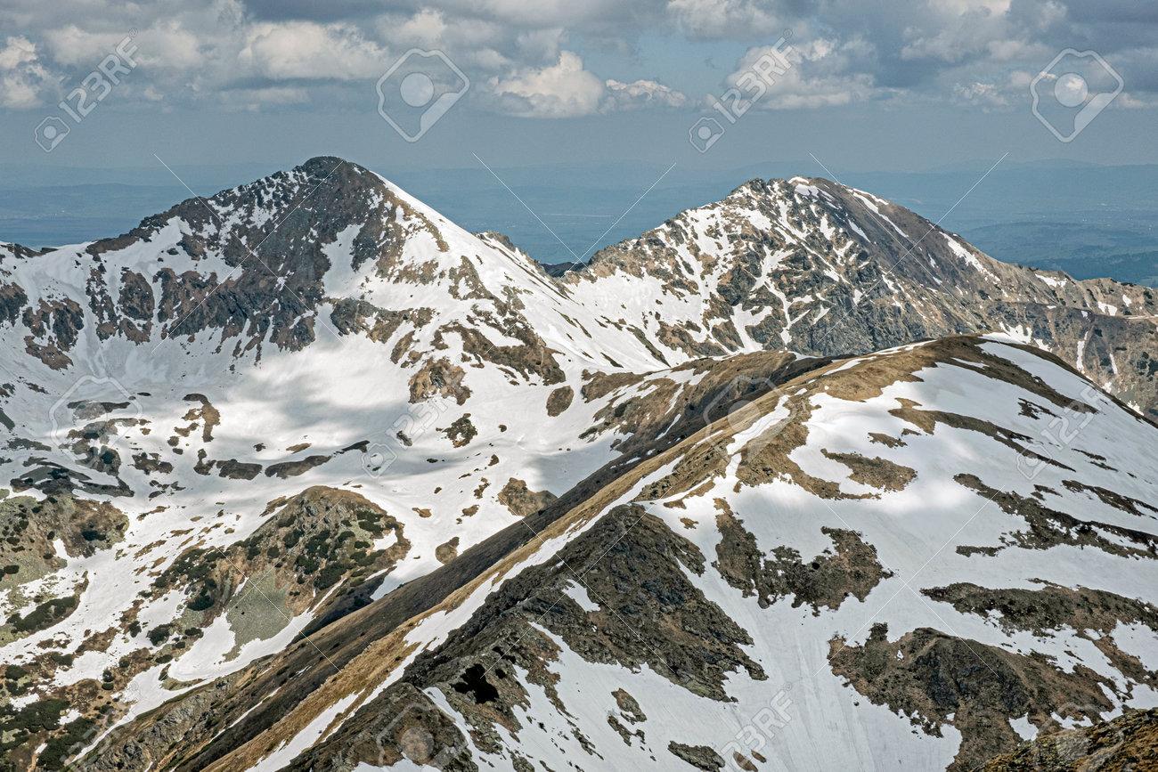 Placlivo and Ostry Rohac peaks from Baranec peak, Western Tatras, Slovak republic. Hiking theme. Seasonal natural scene. - 169797918