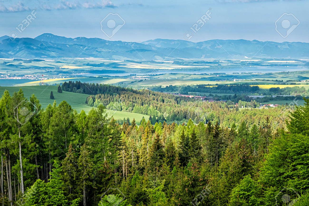 Low Tatras and Liptov basin from Ziar, Slovak republic. Seasonal natural scene. Travel destination. - 169797922