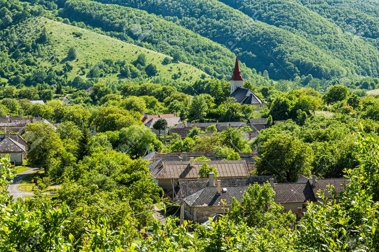 Lucka village, Slovak republic. Seasonal rural scene. Travel destination. - 170636517