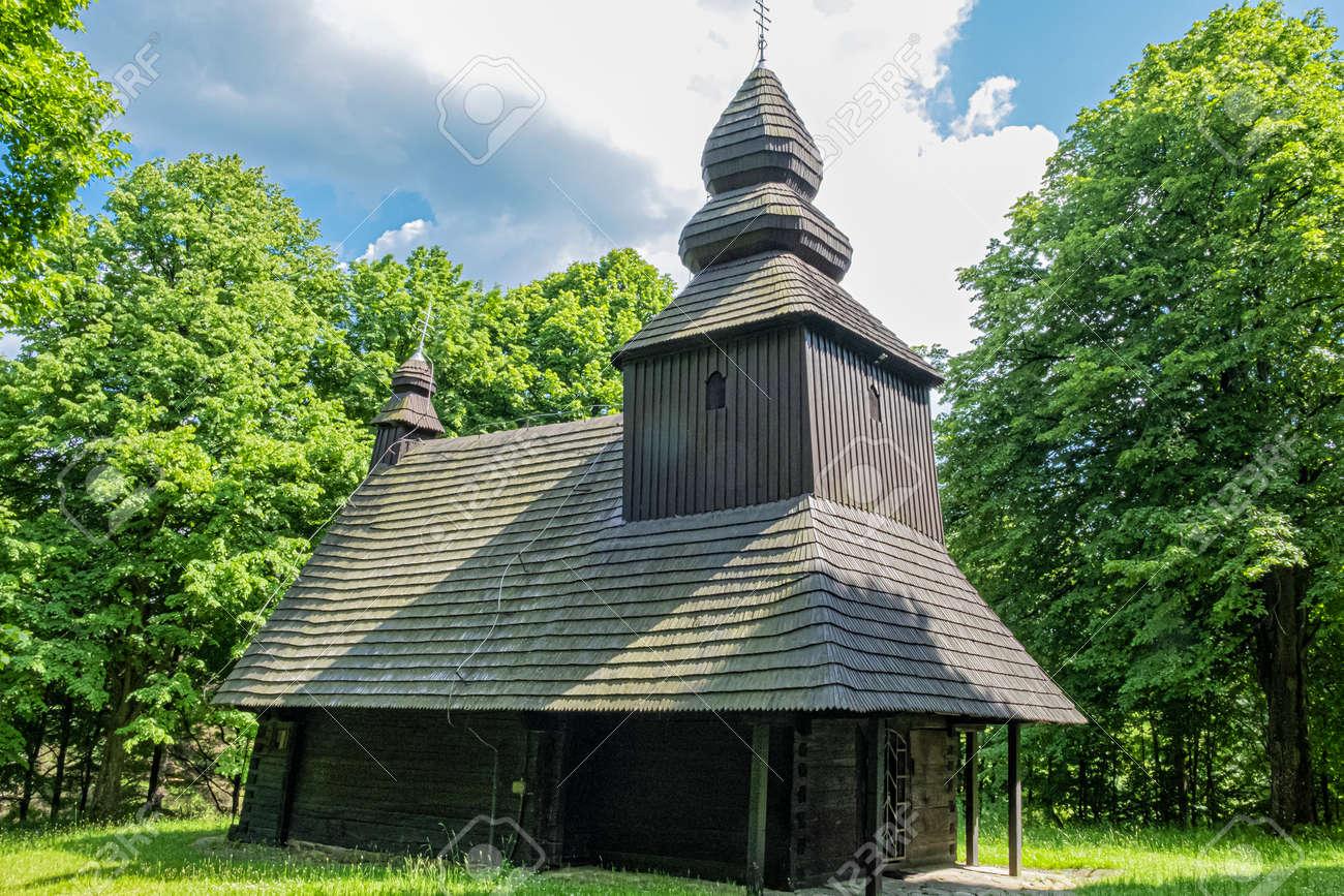Church of the relics of St. Nicholas bishop, Ruska Bystra village, Slovak republic. Architectural theme. Travel destination. - 171317940