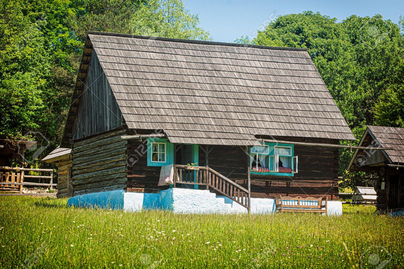 Open-air museum in Stara Lubovna, Slovak republic. Architectural theme. - 171332155