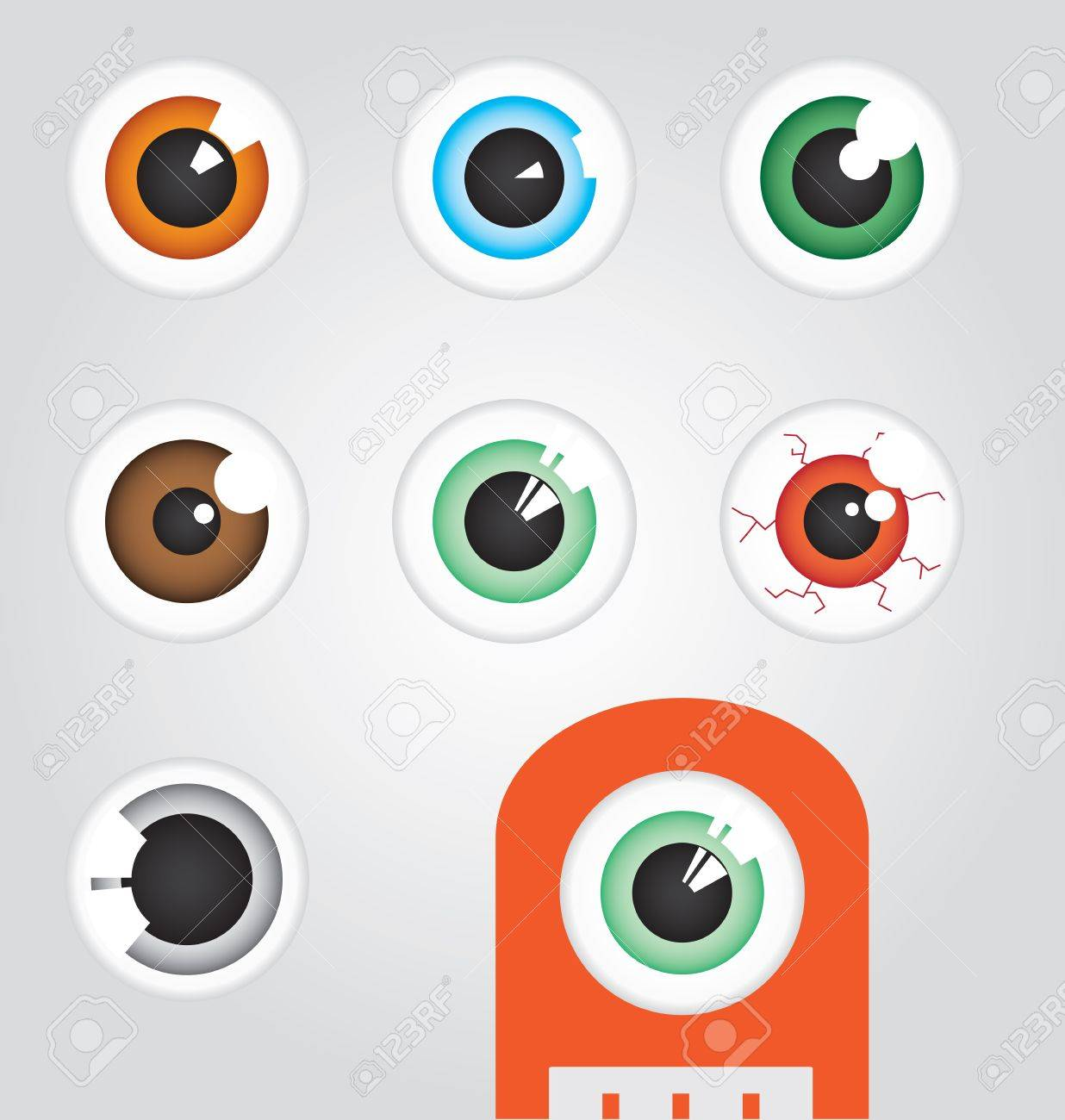 Eyeballs Stock Vector - 13235447