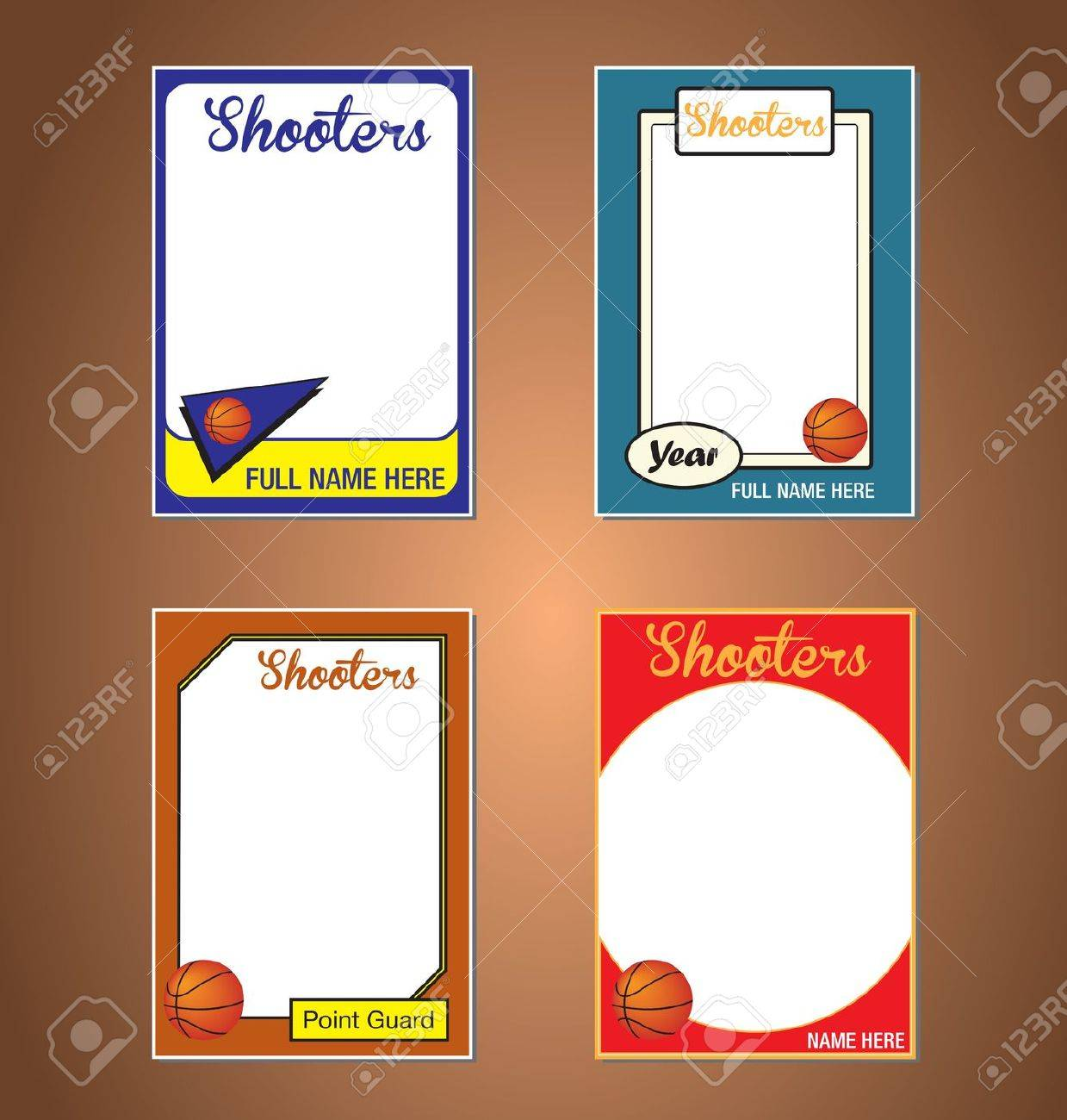 Basketball Trading Card Frames Royalty Free Cliparts, Vectors, And ...