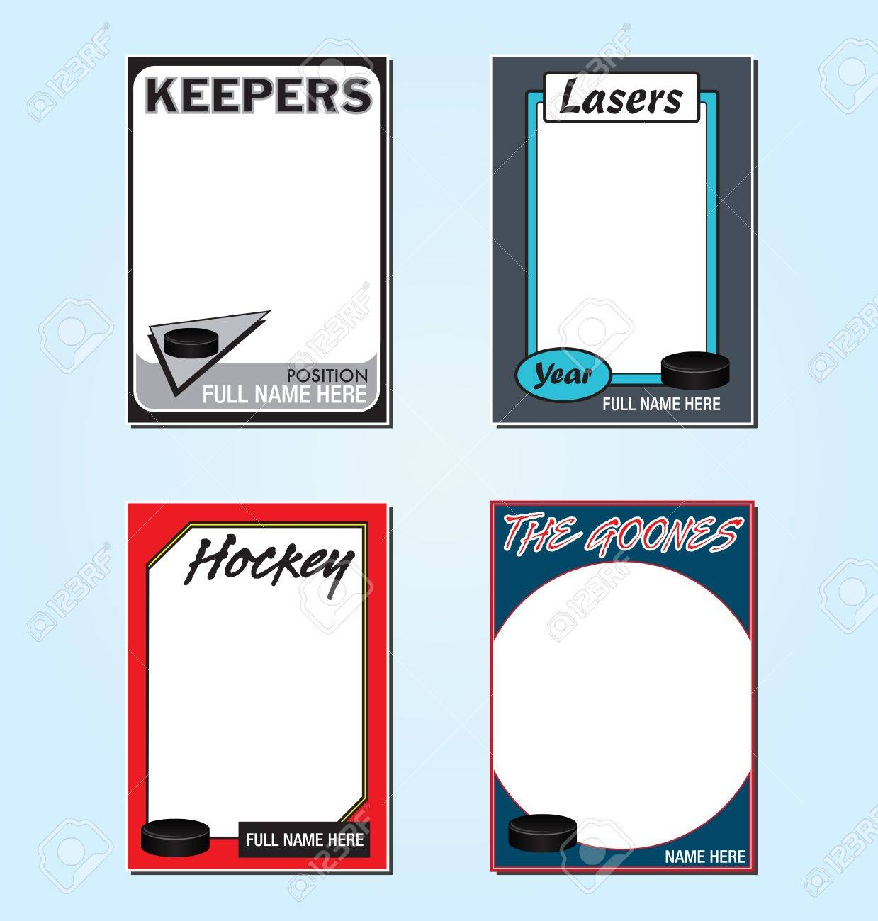 Hockey Trading Card Picture Frames Royalty Free Cliparts, Vectors ...