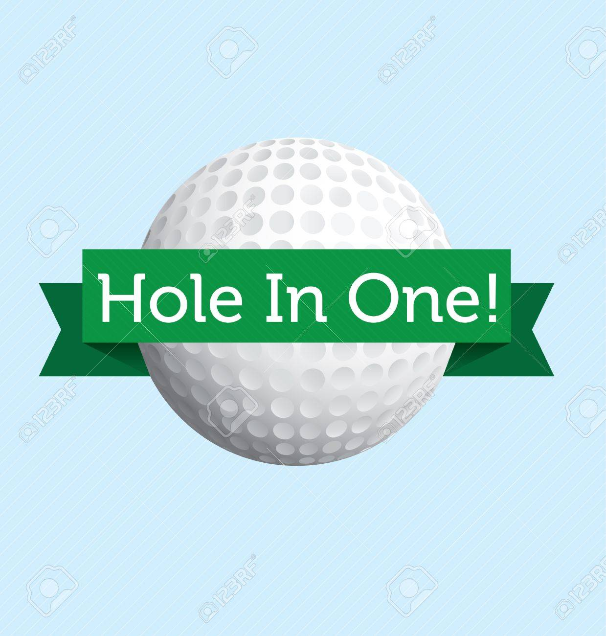 Hole in one golf label Stock Vector - 14152704