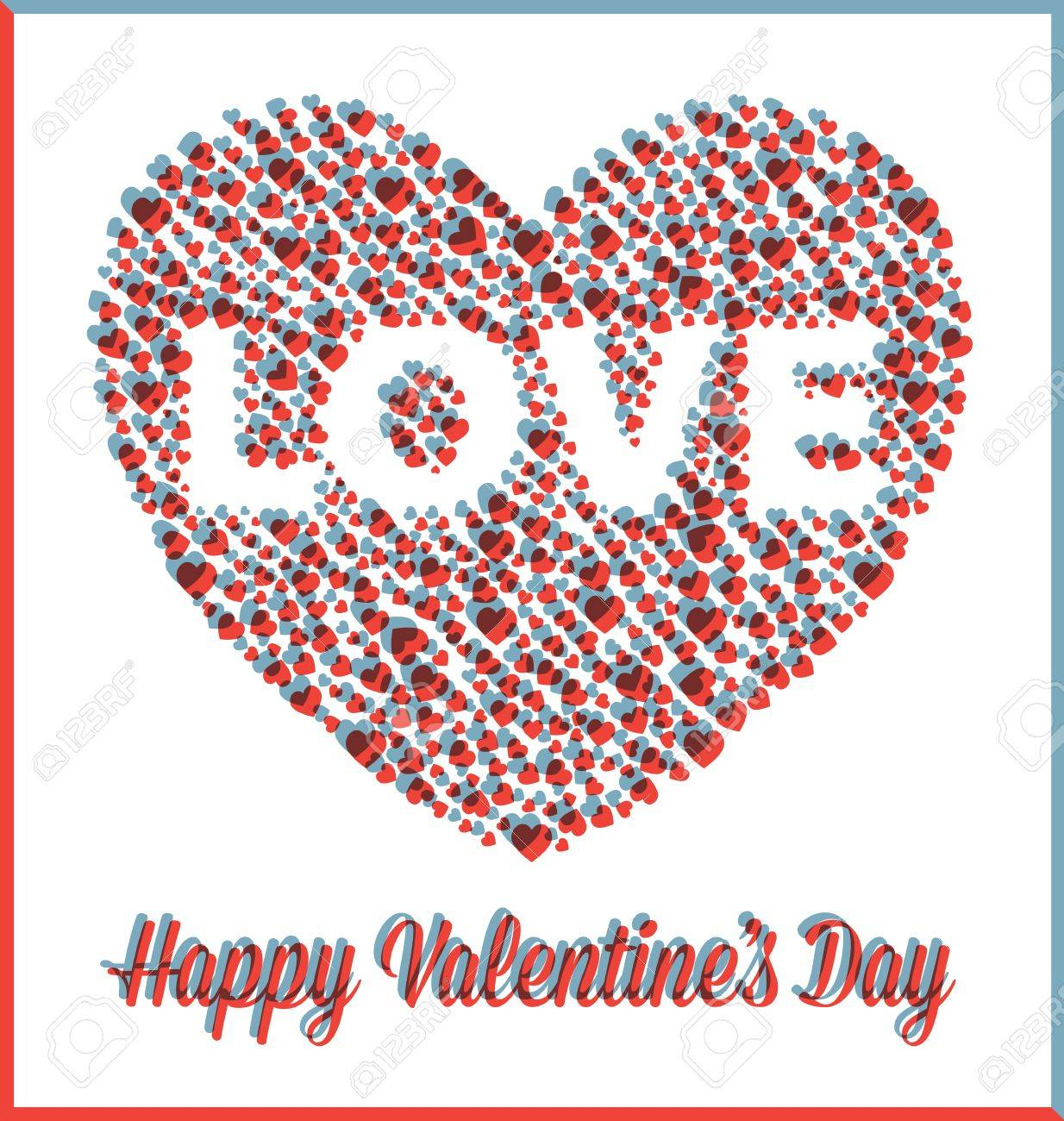 Valentine s Day Love Heart with 3D Effect Stock Vector - 17096756