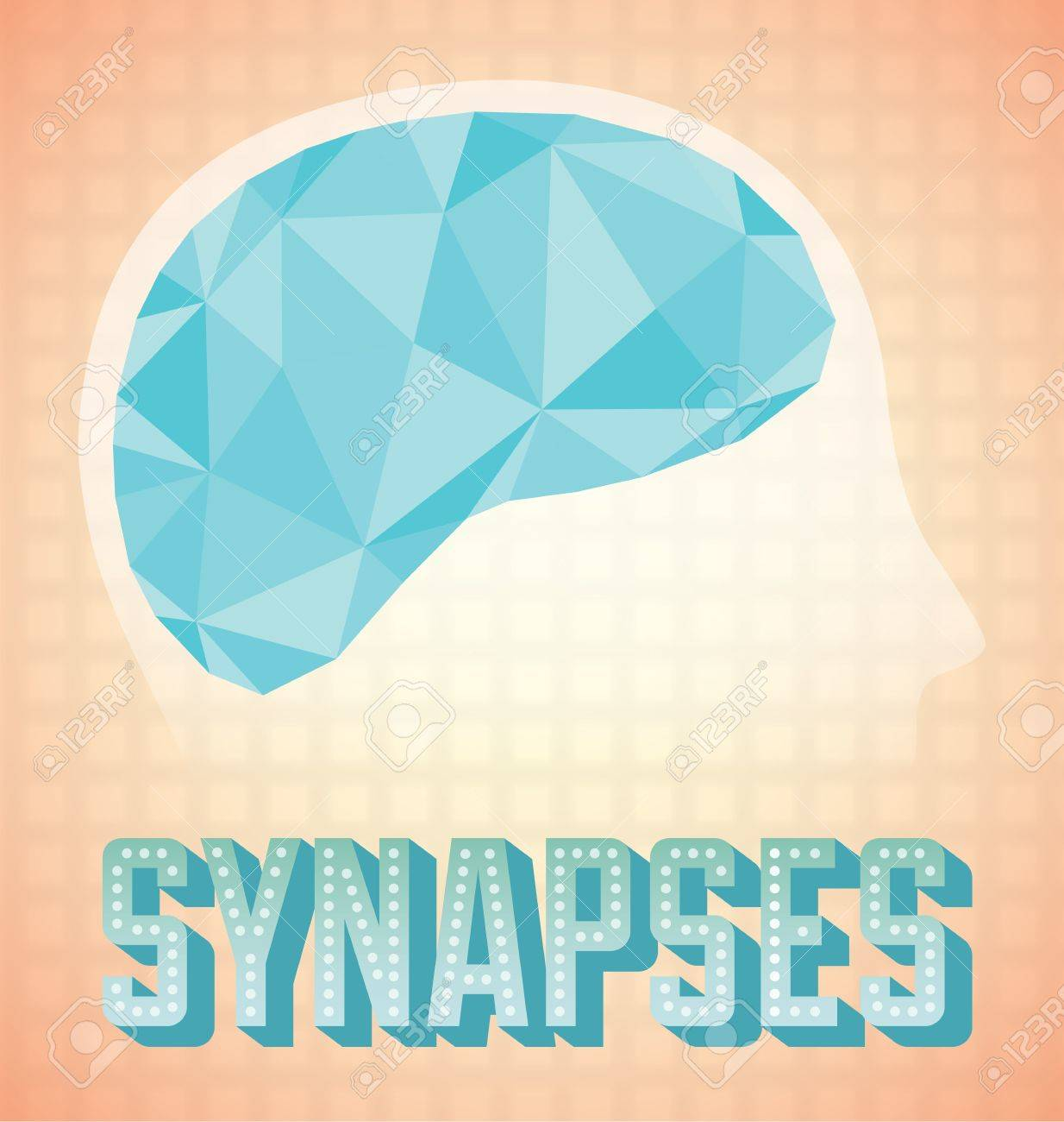 Abstract Brain Synapses Activity Icon and Wallpaper Stock Vector - 17200856