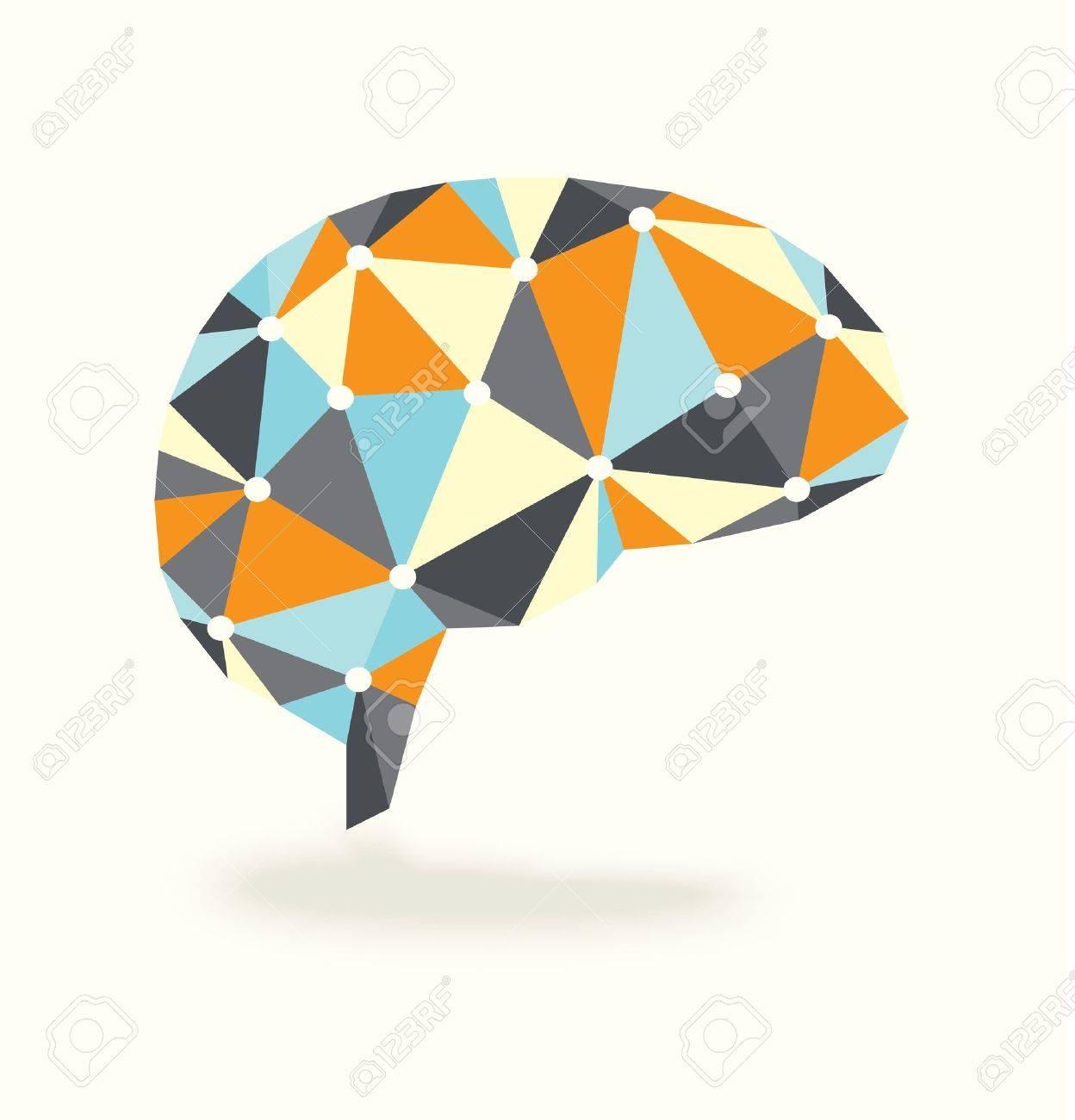 Vector Brain Activity is Retro Abstract Design Stock Vector - 19089193