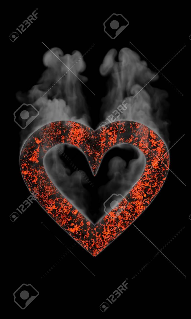 Heart forged smoke Stock Photo - 6512709