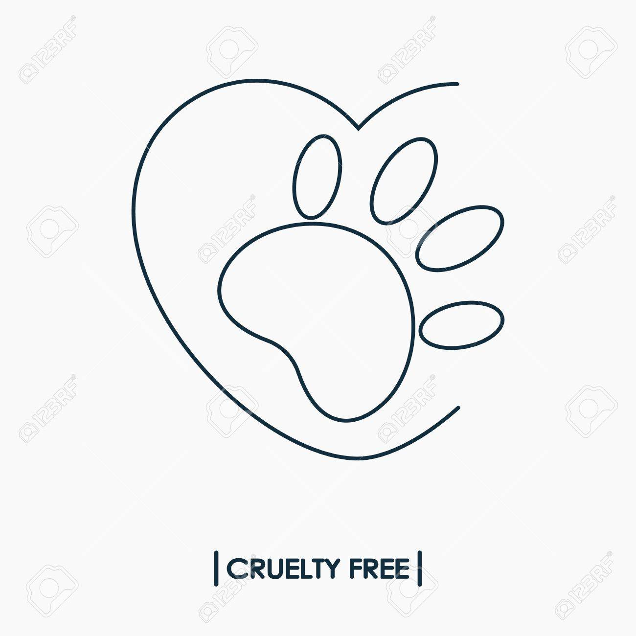 Animal cruelty free logo not tested on animals symbol rabbit animal cruelty free logo not tested on animals symbol rabbit footprint in heart stock biocorpaavc Gallery