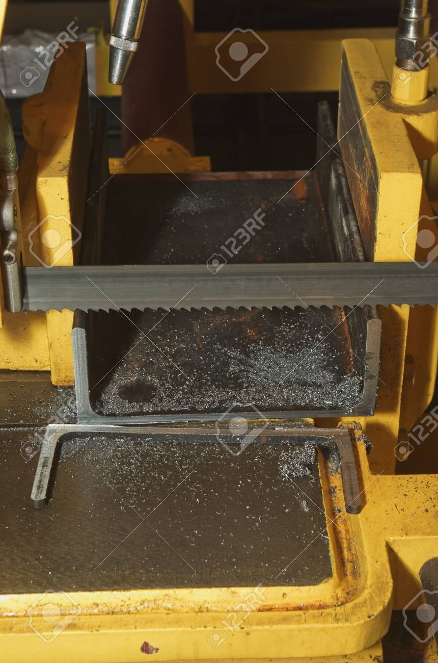 cutting steel machine in a factory Stock Photo - 5916564