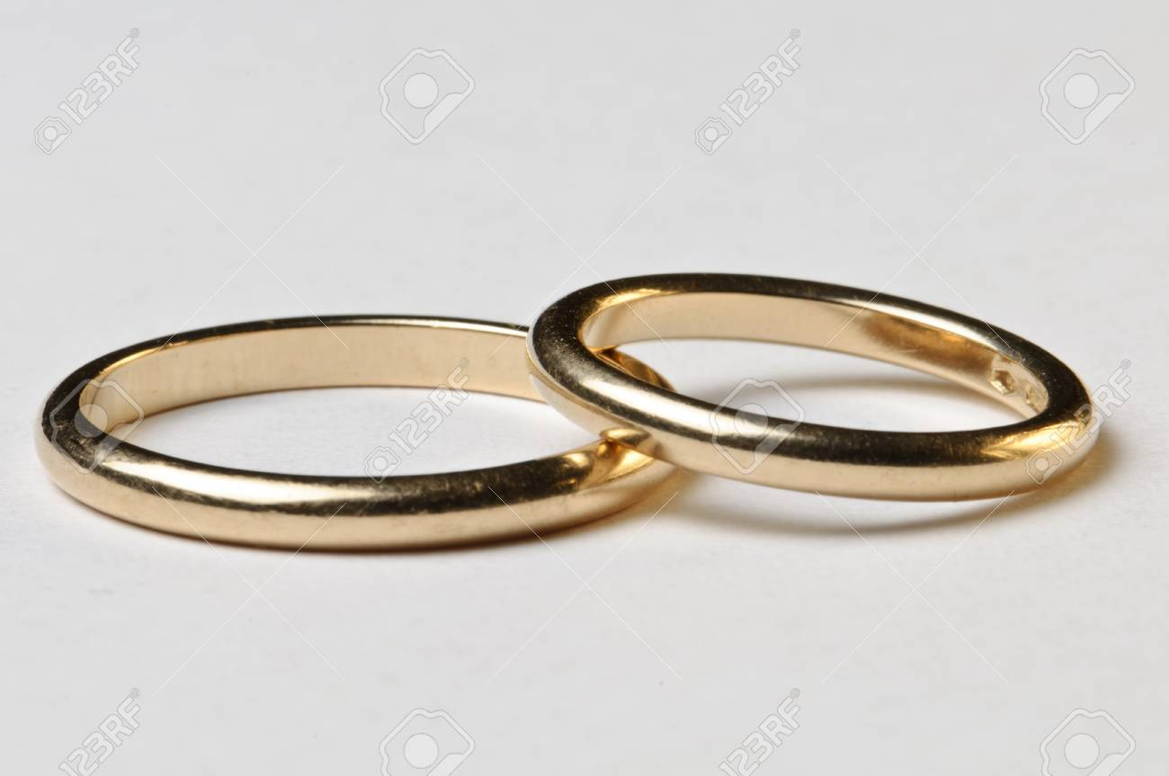 Isolated Wedding Rings Male Ad Female Stock Photo Picture And