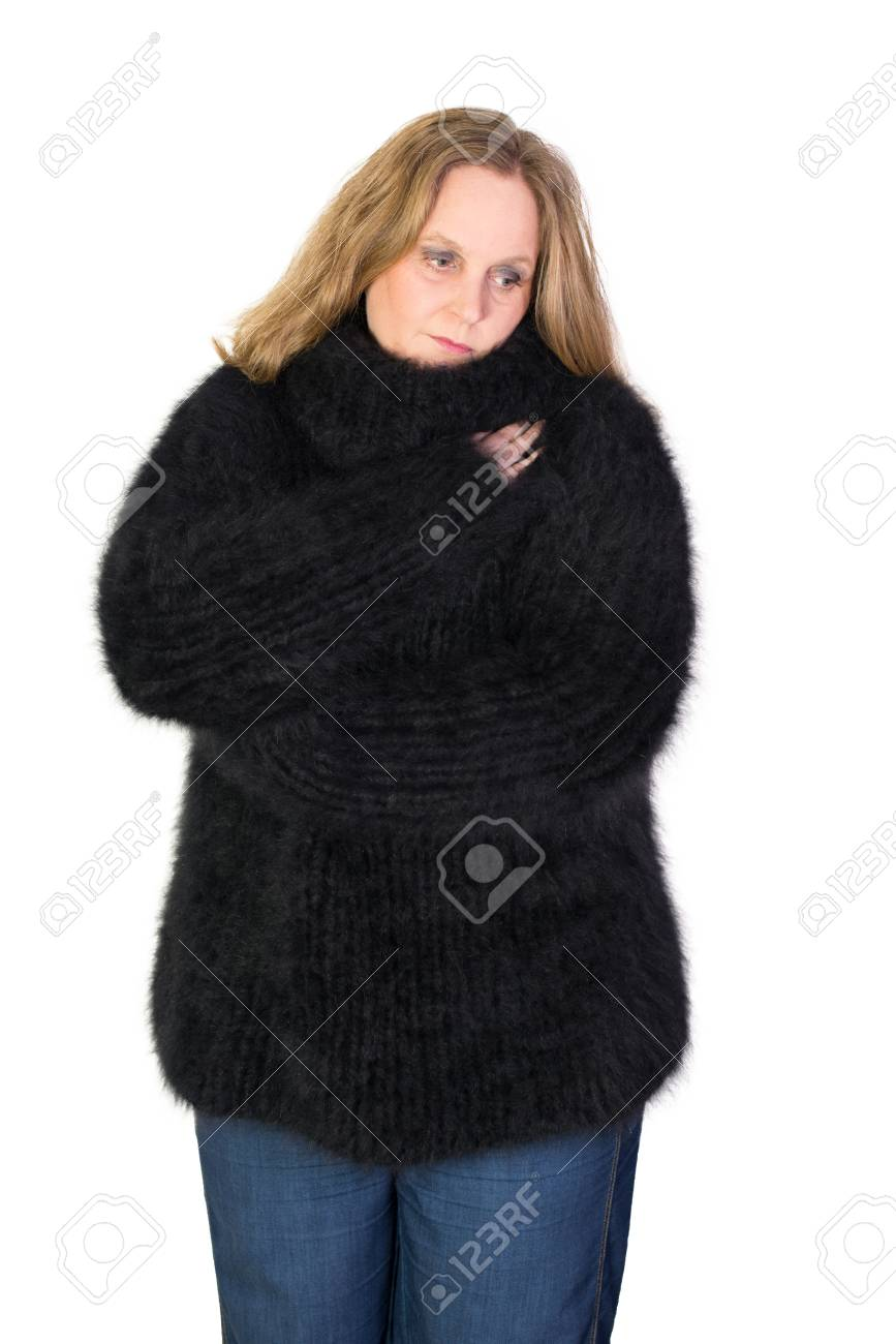 a7cbfd7aa241 Angora Turtleneck Sweater Stock Photo