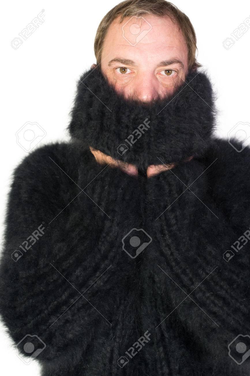 a7cbfd7aa241 Angora Turtleneck Sweater Stock Photo