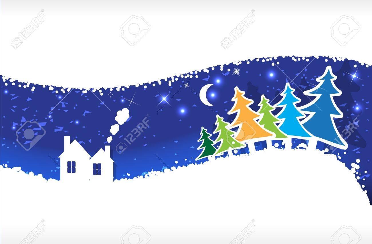 snow vector background Stock Vector - 11041201